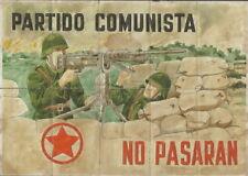 2218 PCE NO PASARAN LA CASA DEL PUEBLO CAMPILLOS-MALAGA CUPONES RACIONAMIENTO