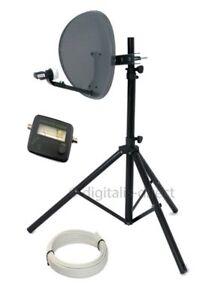 Satellite Tripod,Satfinder and Sky Dish Full DIY Kit for Caravan 10m Cable