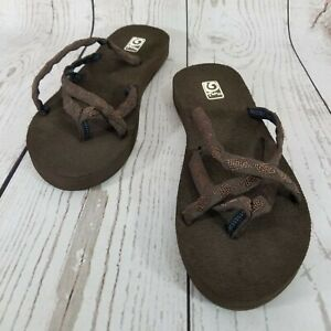 Teva Mush 6840 Olowahu Womens Size 9 Brown Comfort Flip Flop Thongs Sandals