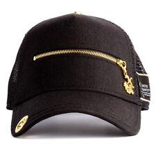 NEW Red Monkey Zipper Pull Mens Black Trucker Hat - One Size