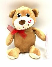 Puppy Dog Kiss Plush Stuffed Valentine 7 Inch x 4 Inch New