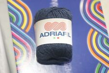 Pelote de laine  ADRIAFIL PROVENZA bleu foncée 61% coton 39% lin