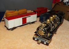 Vintage American Flyer Train Cars & Cast Iron Loco