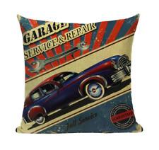 Vintage Car VC2 Retro Classic Automobile Pillow Cover Garage Service Repair