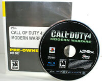 PLAYSTATION Call of Duty 4 PS3 Sony Modern Warfare TESTED & WORKS 2013 Excellent