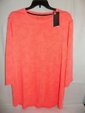 Under Armour Mens Threadborne HeatGear 3/4 Sleeve Shirt Size 3XL Fitted Coral