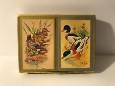 Vintage Congress Double Deck Playing Cards Ducks Mallards Waterfowl