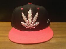 marijuana snapback black weed  leaf hat smoker Pink One Size For Most Free Ship