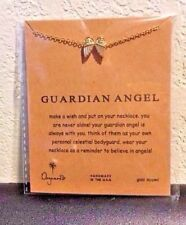 Guardian Angel necklace and pendant MAKE A WISH color Gold