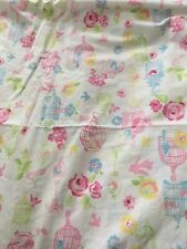 Pottery Barn Kids Twin Sheet Set Birds Birdcages Pink And White 2009