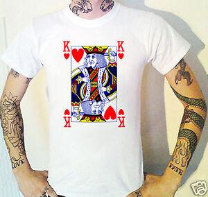 King Of Hearts T-Shirt. Playing Cards Poker Blackjack