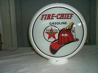 gas pump globe Texaco Fire Chief repro. 2 GLASS LENS IN A PLASIC BODY  NEW