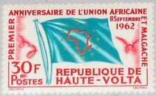 Upper Volta obervolta 1962 111 106 African malagache Unión UAM Flag bandera mnh