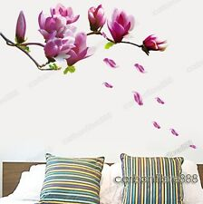 Large Magnolia Flower Tree Wall Stickers Art Decal Mural Wallpaper Removable