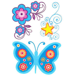 """"""" Peace, Love & Tattoos """", Blue Butterfly, Flowers, Star, Made in USA"""