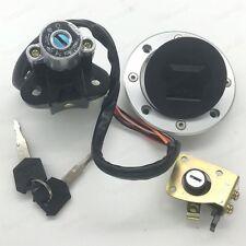 lgnition Switch Fuel Gas Cap Seat Lock Key Set For Suzuki GSXR600 750 1996-1999