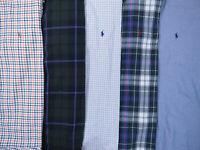 Lot Of 5 Ralph Lauren Polo Long Sleeve Button Front Shirts Mens XL 2 NWOT