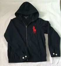 Ralph Lauren Boy's Hooded BIG PONY Lightweight Jacket - Size M (10/12) BNWOT