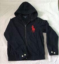 RALPH LAUREN Boy's Navy BIG PONY Hooded Jacket Coat