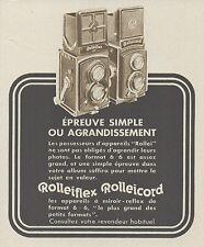 Z9907 ROLLEIFLEX - ROLLEICORD -  Pubblicità d'epoca - 1937 Old advertising
