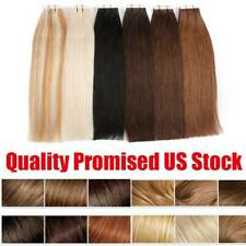 Remy Invisible Tape In Human Hair Extensions Full Head Skin Weft, 20/40/60Pieces
