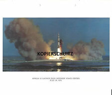 ORIGINAL NASA FOTO APOLLO 15 LAUNCH FROM KENNEDY SPACE CENTER JULY 26, 1971