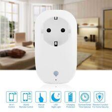 WIFI 16A Power Supply Socket Timer Alexa Voice Wireless Controller White EU Plug