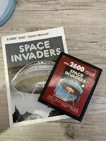 ORIGINAL 1980 ATARI 2600 Space Invaders Cartridge And Game Manual