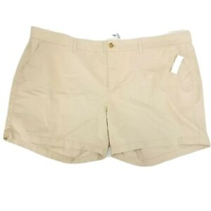 New Old Navy Light Khaki Shorts Womens Plus Size 26 Standard Fit Casual Bottoms
