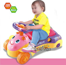 deAO Toys 2in1 Baby Walker and Push Power Ride On Car with Shape Sorter Sound UK
