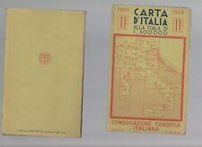 carta d italia consociazione turistica italiana - foglio numero 11 -  1937