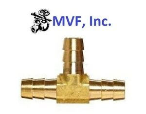"""Hose Barb Tee for 1/2"""" ID Hose Brass 3-Way Fitting, Fuel, Water, Air <HBT2-08"""