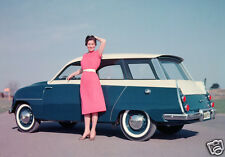 1960 Saab 96 Station Wagon, Blue/White, Refrigerator Magnet, 40 MIL