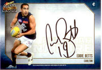 2011 Select AFL Champions Stars Authentic Signature Card SS2 Eddie Betts-Carlton