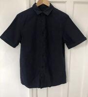 Mens All Saints Blue Short Sleeved Shirt, Size Medium