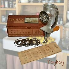 Vintage Universal Food Chopper No.1551 ~  Iron Casting Food & Meat Chopper w/Box