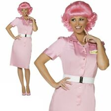 Grease Frenchy Beauty School Drop Out Adult Costume Pink Lady UK 8-18