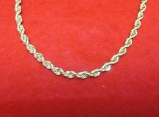 LOT OF 5 pcs, 16 INCH 14KT GOLD EP 3MM ROPE FRENCH STYLE CHAIN NECKLACE
