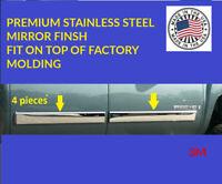 2010-2014 Chevy Tahoe/GMC Yukon14 Body Side Molding Overlay Trim Stainless steel