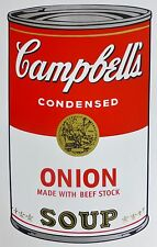 ANDY WARHOL CAMPBELLS' ONION Soup Can SUNDAY B.MORNING Silkscreen Print COA