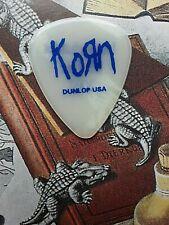 KORN 2002 Untouchables Tour clear blue guitar pick