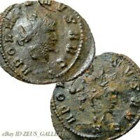 GALLIENUS RARE Rev.on Obv. Overstrike CENTAUR Rome mint Ancient Roman Coin
