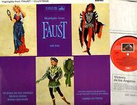 ASD 412 CLUYTENS, DE LOS ANGELES, GEDDA, CHRISTOFF gounod faust highlights LP