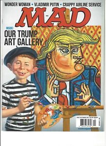 MAD Magazine Our Trump Art Gallery Spy vs Spy What Me Worry? #547 October 2017