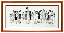 Norman Rockwell Hand Signed Spelling Bee Lithograph Illustration Large Artwork