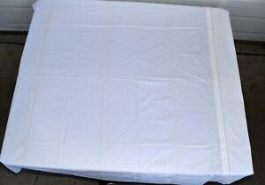 Vintage White Embroidered Scalloped Edge Full Size Bed Skirt