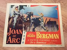 JOAN OF ARC Original 1948 Vintage Lobby Card INGRID BERGMAN VICTOR FLEMING