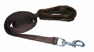 Indian Spike Fur and Nylon Dog Collar and Leash (1-inch, Brown), Dog Harness