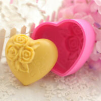 Loving 3D Silicone Heart Rose Flower Mold Sugarcraft Cake Decorating Mould Tool