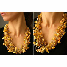 Halscollier, Bernstein,  Necklace, BUTTERSCOTCH  Amber, NEU - UNIKAT